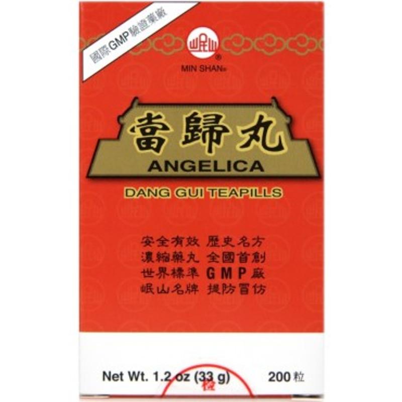Angelica Teapills (Dang Gui) - 200 Pills/Bottle - Min Shan Brand