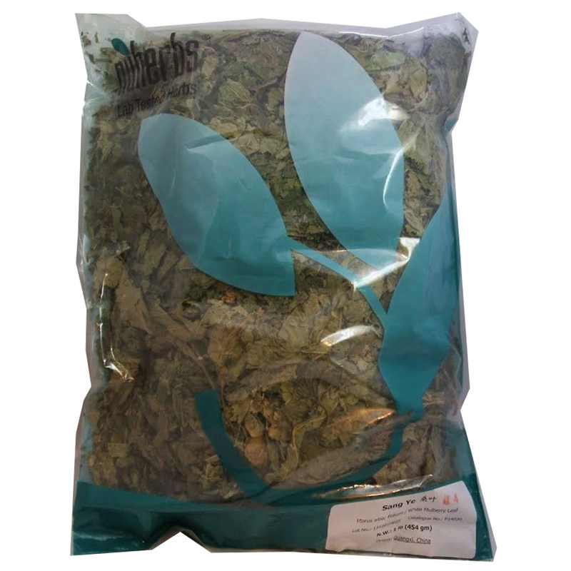 White Mulberry Leaf (Sang Ye) - Lab-Tested Cut Form 1 lb. - Nuherbs Brand (P14030)