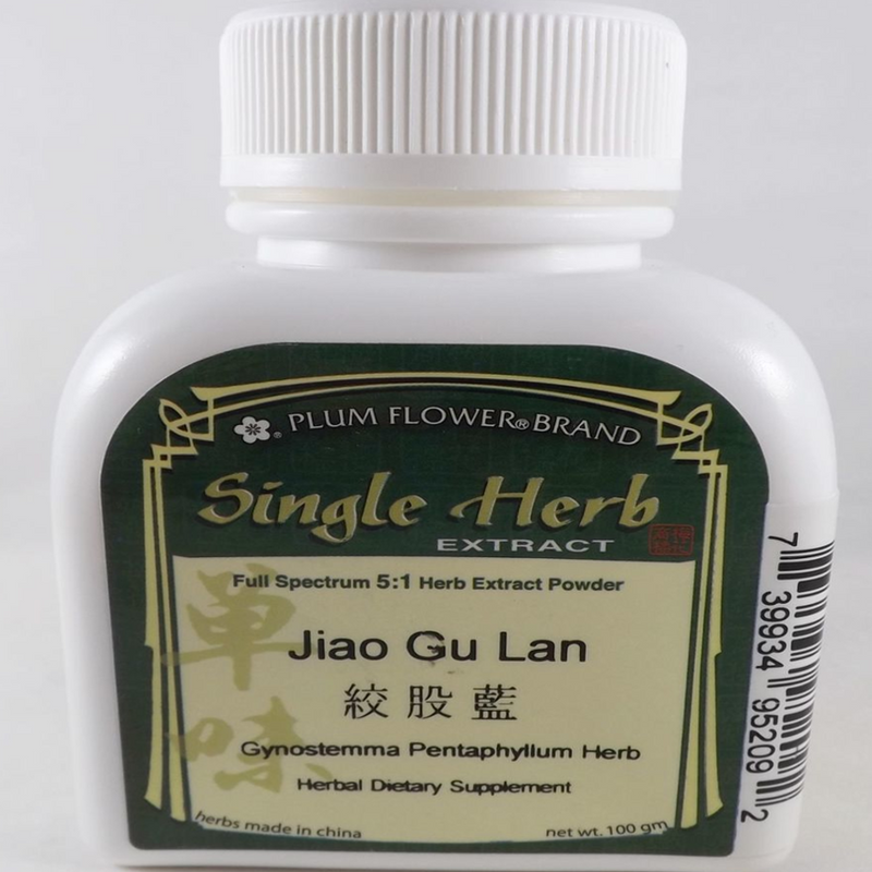 Gynostemma Pentaphyllum Herb Concentrate (Jiao Gu Lan) Plum Flower Powdered Concentrate 100 gram Bottle