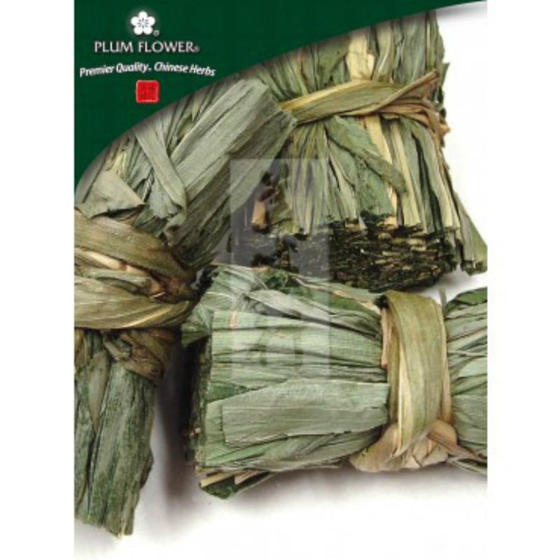 Bamboo Leaf and Stem Dan Zhu Ye cut, 250 gram package (8 ounces) Plum flower