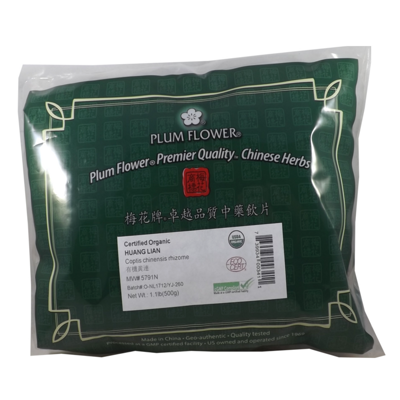 Coptis  Root also know as  Golden Thread Rhizome (Huang Lian)  Certified Organic Plum Flower cut 1lb