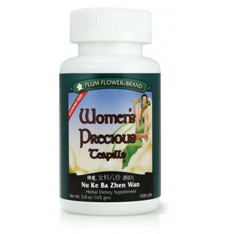 Women's Precious Teapills (Nu Ke Ba Zhen Wan) - Economy 1,000 Pills/Bottle - Plum Flower Brand