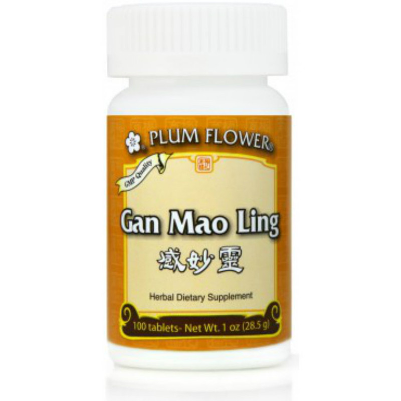 Gan Mao Ling, 100 Tablets/bottle - Plum Flower brand