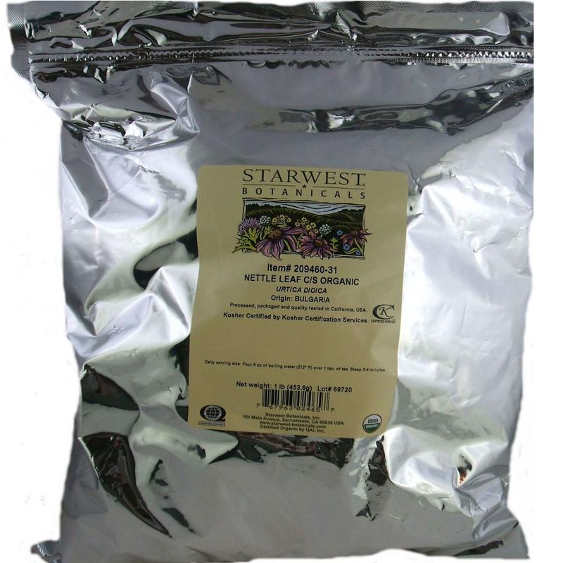Nettle Leaf Certified Organic Cut 1 lb