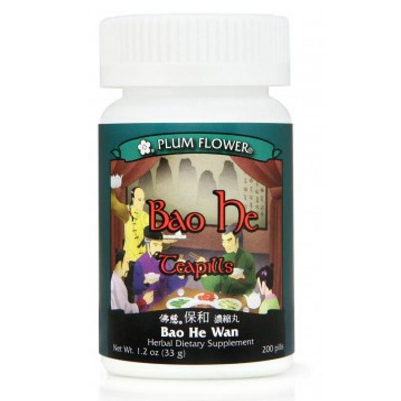 Preserve Harmony Formula Teapills (Bao He Wan) - 200 Pills/Bottle - Plum Flower Brand