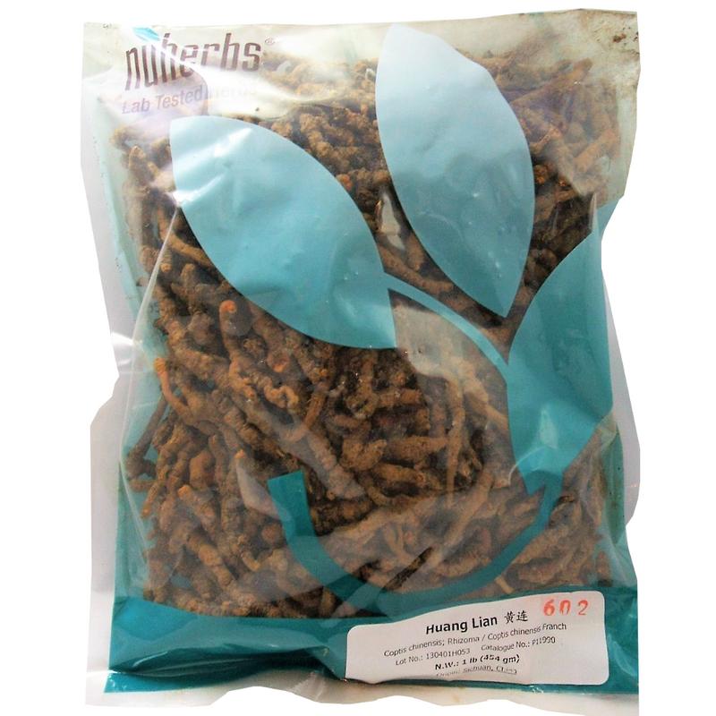 Coptis Rhizome (Huang Lian) Nuherbs lab tested cut form 1 lb