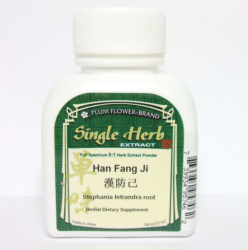 Stephania Root - (Han) Fang Ji - Plum Flower Powdered Concentrate 100 gram bottle