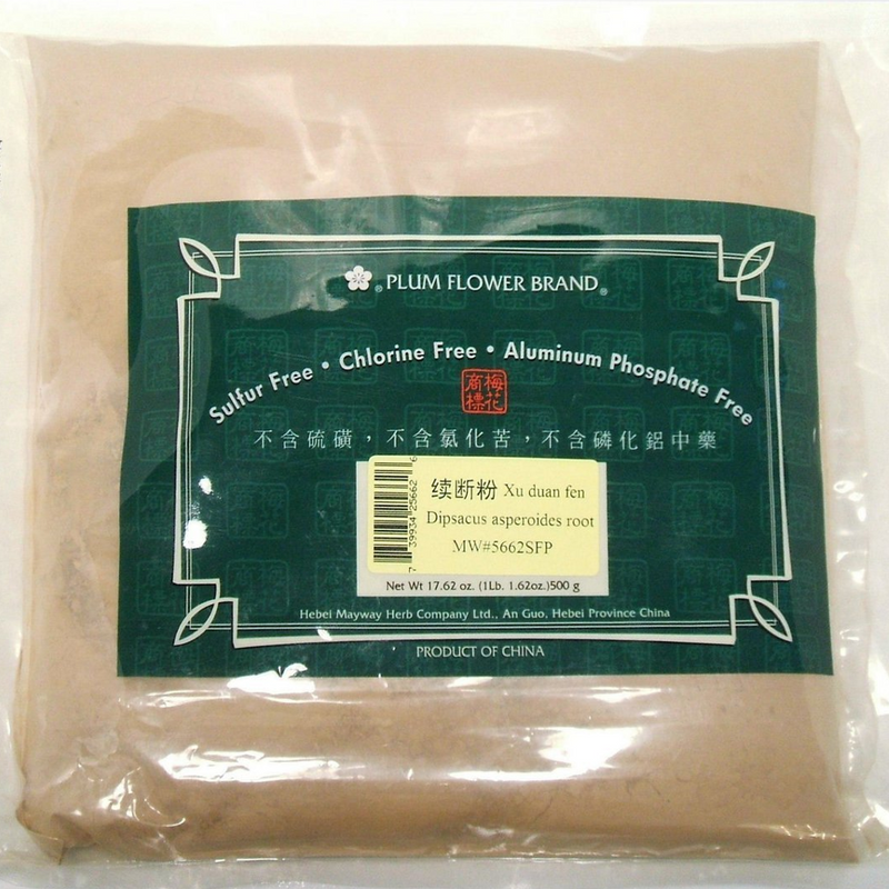 Teasel Root (Xu Duan) - Powder Form 1 lb. - Plum Flower Brand