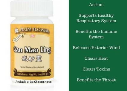 Benefit of Gan mao Ling