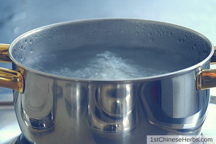 Step 2: Boil the herbs.