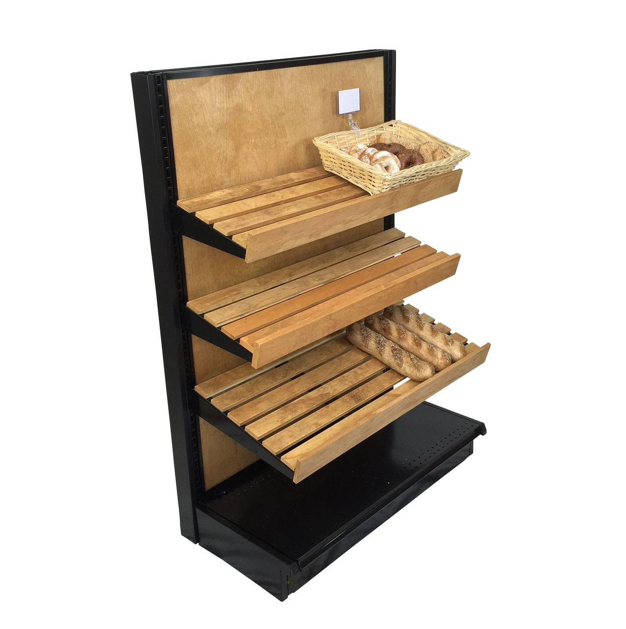 Bread Display Shelves | Wood Gondola End Cap | DGS Retail