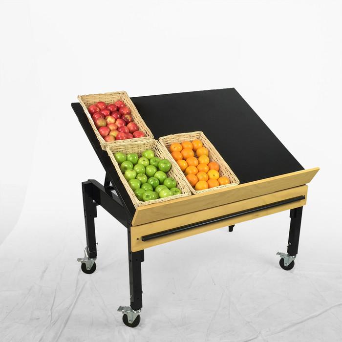 retail produce display rack