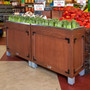 wet produce display orchard bin
