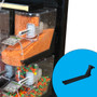 Rail arm for scoop bins by Trade Fixtures shown in standalone.