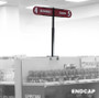 gondola shelving end cap aisle sign