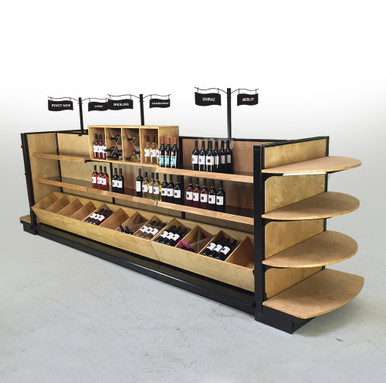 Liquor Store Shelving Retail Wine Rack And Displays