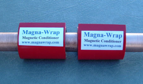 "2 lengths of Magna-Wrap shown installed on a 3/4"" pipe. New Picture Coming Soon."