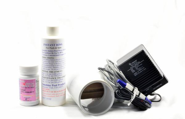 Economy Pool Sunshine Ionizer Model SPEWS Has Electrodes Containing Silver