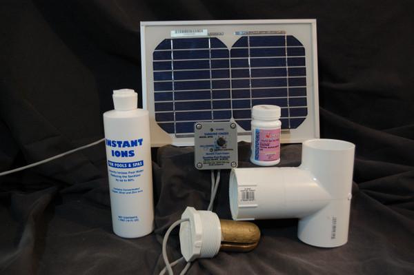 Standard Solar Powered Pool Sunshine Ionizer Model SPSS Treats 25,000 Gallons