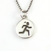 Girl Runner charm necklace