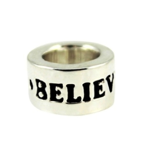 Sterling Silver BELIEVE Inspiration Bead