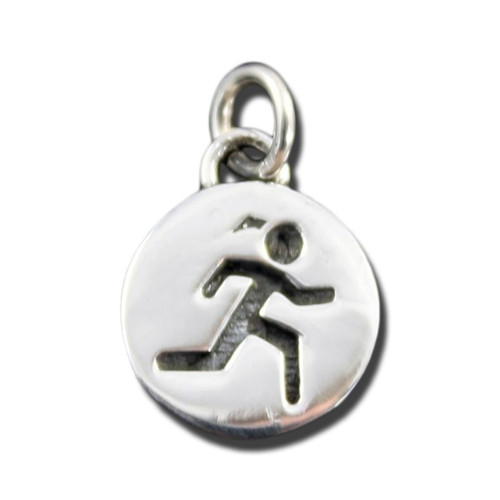 Sterling Silver Sporty Gal Runner Charm