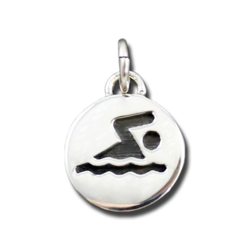Sterling Silver Sporty Gal Swimmer Charm