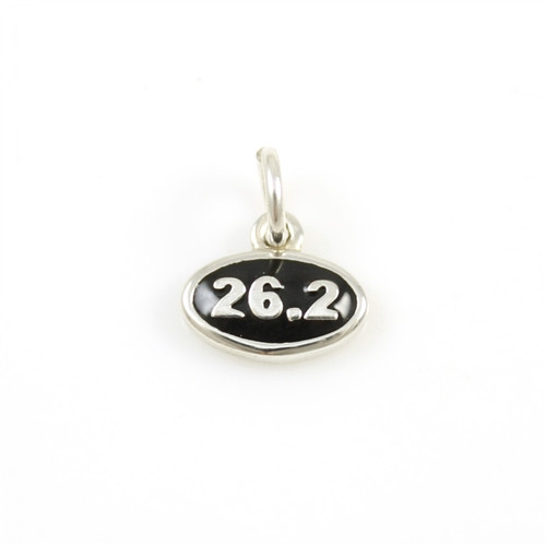 Sterling Silver 26.2 Enamel Mini Charm