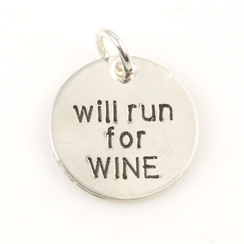 Will Run for Wine Charm