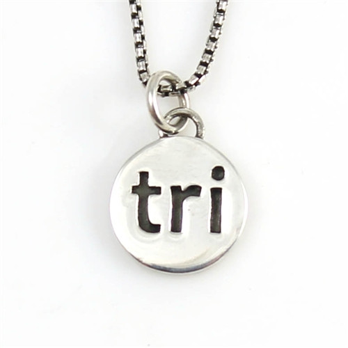 Sterling Silver Tri Charm Necklace