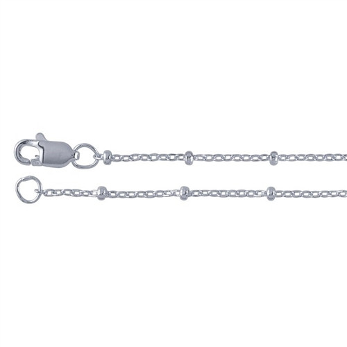 silver long inches links dp plated chain cable fine necklace