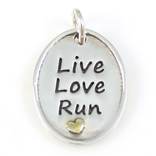 Live Love Run Oval Pendant