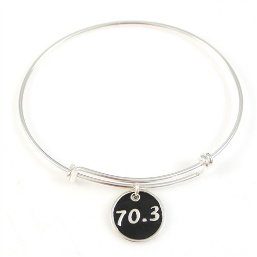Large 70.3 Enamel Charm Bangle Bracelet