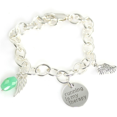 Running is My Therapy Charm Bracelet