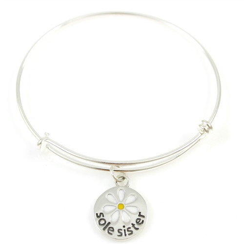 Sterling Silver Sole Sister Bangle Bracelet