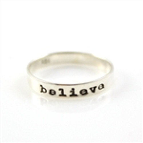Believe Stacker Ring - Size 7