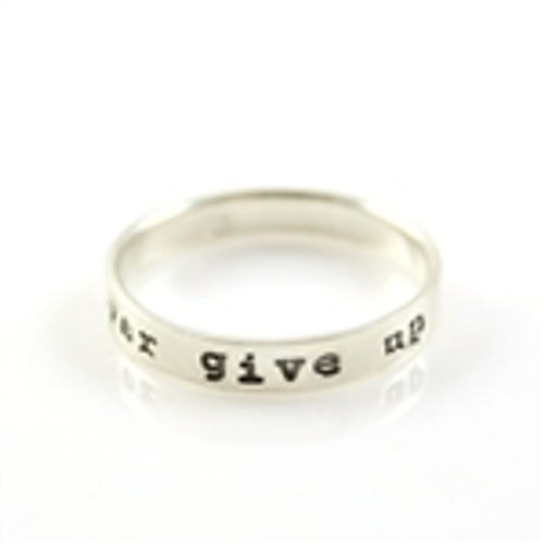 Never Give Up Stacker Ring - Size 7