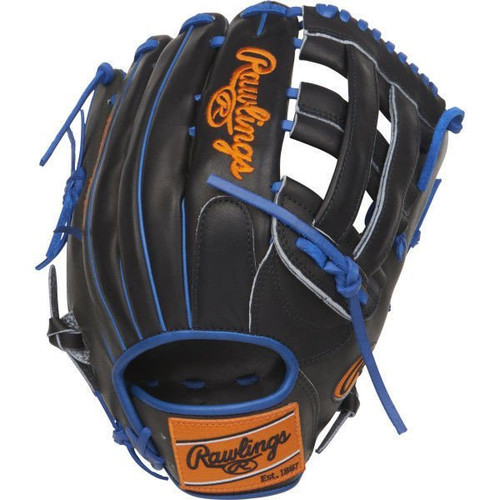 """RAWLINGS HEART OF THE HIDE 12.75"""" LIMITED EDITION RHT OUTFIELD BASEBALL GLOVE W/COLORSYNC PATCHES"""