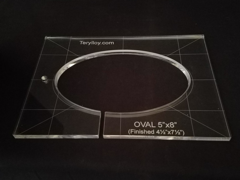 "3/8"" Template, Oval IO 4.5"" x 7.5 Finished"""