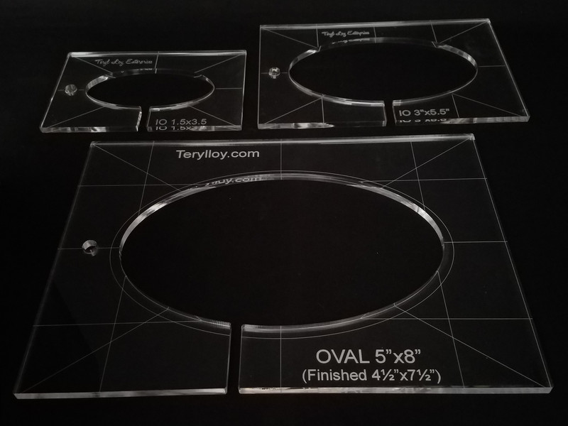 "1/4"" Template, Oval Set"