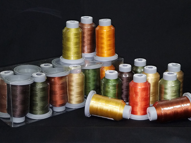 Fall Collection of 12 Glide Spools, 40wt Thread