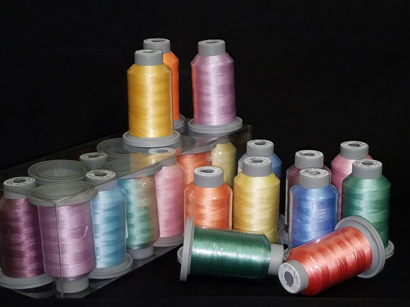Pastel Collection of 12 Glide Spools, 40wt Thread