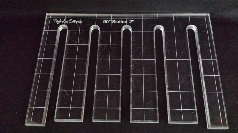 "3/8"" Template, 90' Slotted Ruler, 2"", Medium"