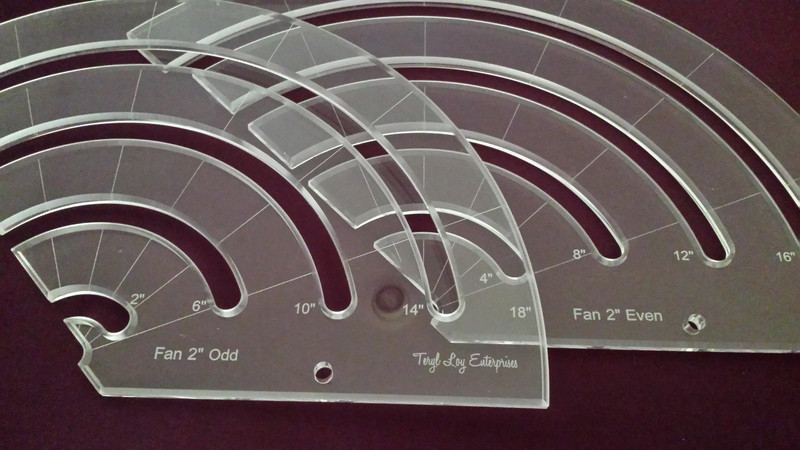 "3/8"" Template, Fan Set, 2"", Large"