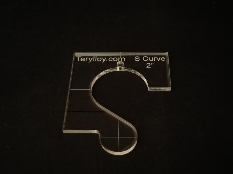"""1/4"""" Template, S Curve 2"""""""
