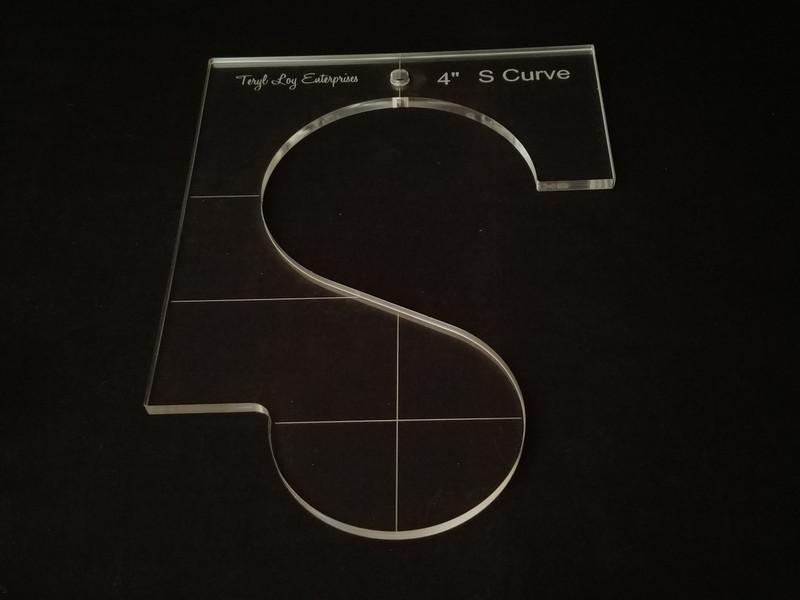 """1/4"""" Template, S Curve 4"""""""