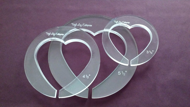 "3/8"" Template, Heart Set"