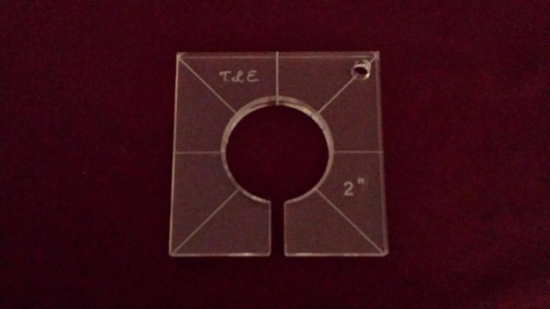 Inside Circle Template, 2 inch diameter