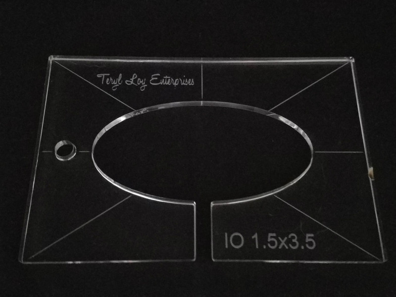 "1/4"" Template, Oval IO  1.5"" x 3"""