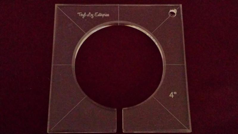 Inside Circle Template, 4 inch diameter